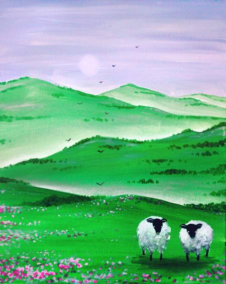 A The Green Hills paint nite project by Yaymaker