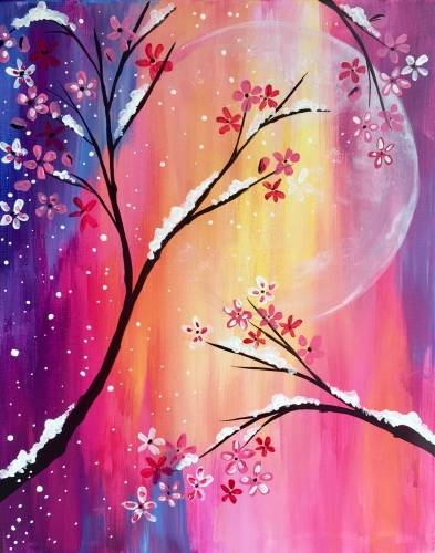 A Last Snowfall of the Season paint nite project by Yaymaker