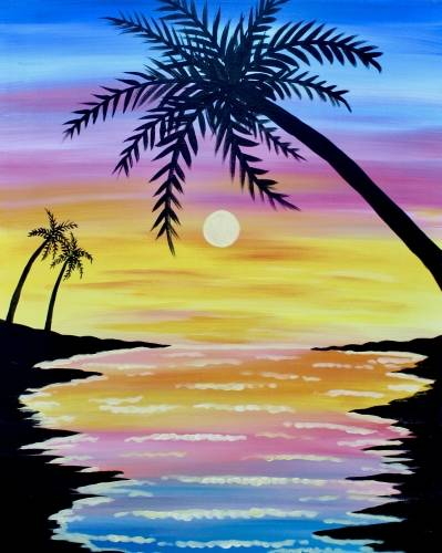 A Bright Beach paint nite project by Yaymaker