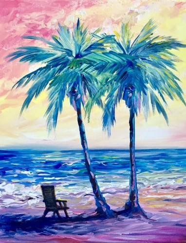 A Lifes a Beach II paint nite project by Yaymaker