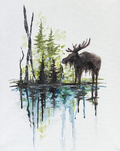 A Bruce The Moose Meets Spruce paint nite project by Yaymaker