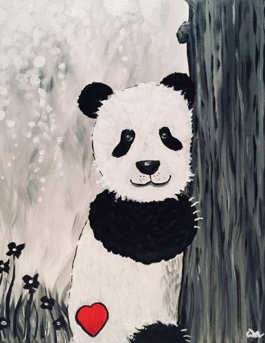 A Sweet Panda paint nite project by Yaymaker