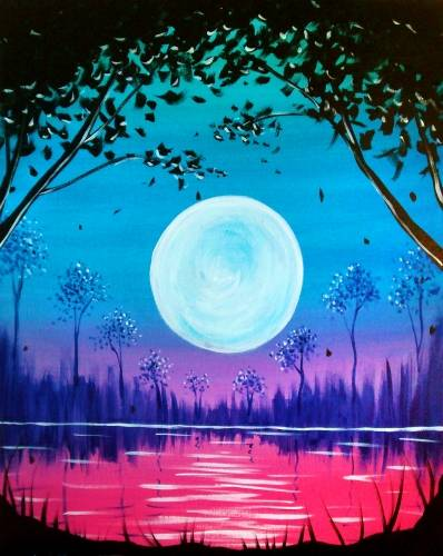 A Magic Moonlight paint nite project by Yaymaker
