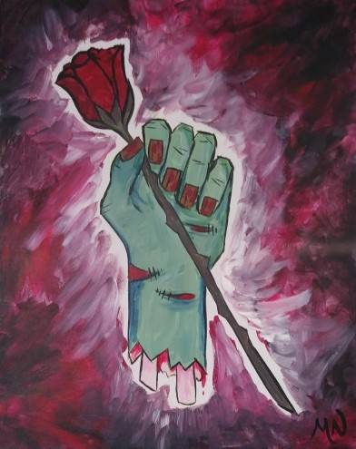 A Zombie Love Story paint nite project by Yaymaker