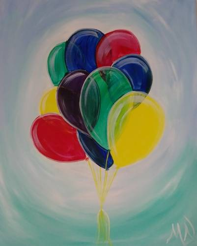 A Party Balloons paint nite project by Yaymaker