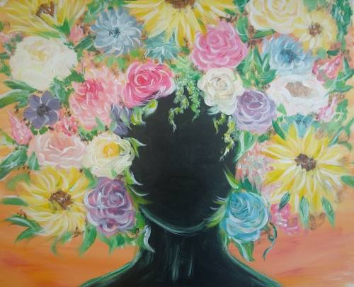 A Flower Crown paint nite project by Yaymaker