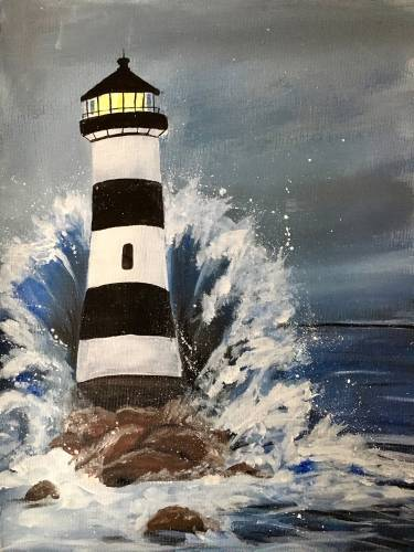 A Strong through the Storm paint nite project by Yaymaker