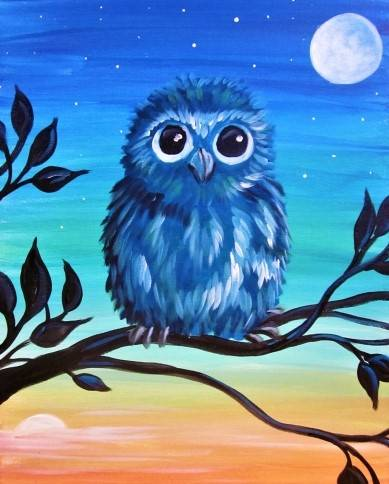 A Goodnight Sun Hello Moon paint nite project by Yaymaker