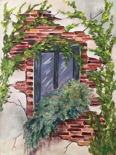 A Window through the Vines paint nite project by Yaymaker