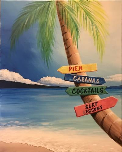 A Beach Time Decisions paint nite project by Yaymaker