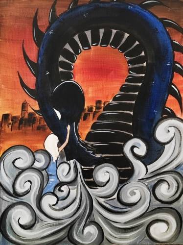 A The Dragon Queen paint nite project by Yaymaker