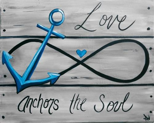 A Love Anchors the Soul paint nite project by Yaymaker