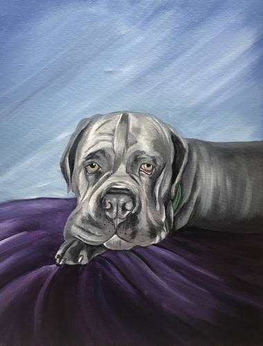 A Customized Paint Your Pet Special Event paint nite project by Yaymaker