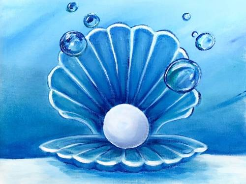 A Mother of Pearl paint nite project by Yaymaker
