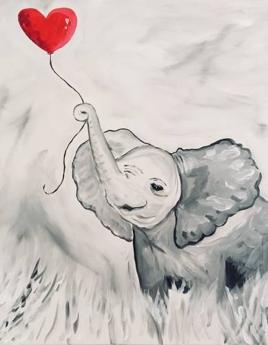 A Sweet Elephant paint nite project by Yaymaker