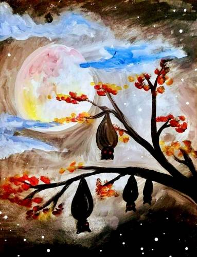 A Going Batty paint nite project by Yaymaker