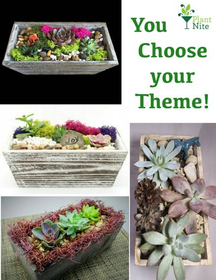 A You Choose your Theme In Wooden Rectangle plant nite project by Yaymaker