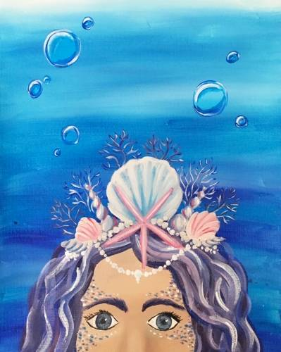 A The Mermaids Crown II paint nite project by Yaymaker