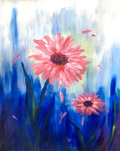 A Petals Pink paint nite project by Yaymaker