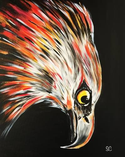 A Eagle Stare paint nite project by Yaymaker
