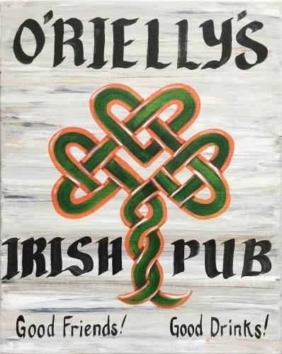 A Personalized Irish Pub Sign paint nite project by Yaymaker