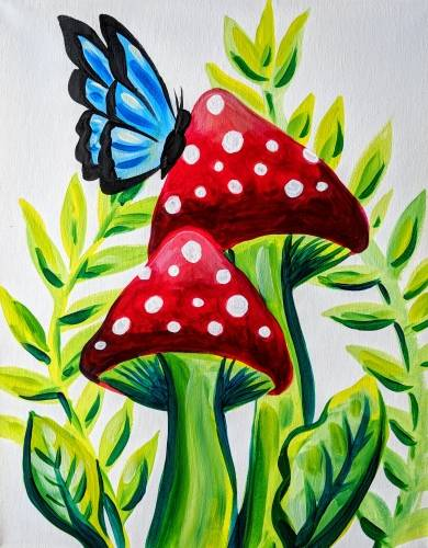 A Alice in Mushroom Land paint nite project by Yaymaker