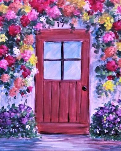 A The Blooming Doorway paint nite project by Yaymaker
