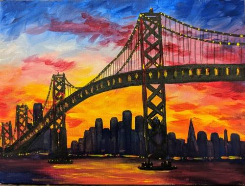 A Sunset in the City III paint nite project by Yaymaker