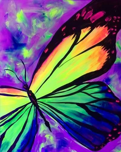 A Butterfly Love BLACK LIGHT paint nite project by Yaymaker