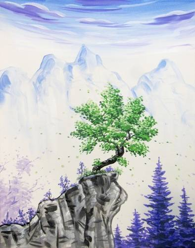 A Cliff of Tranquility paint nite project by Yaymaker