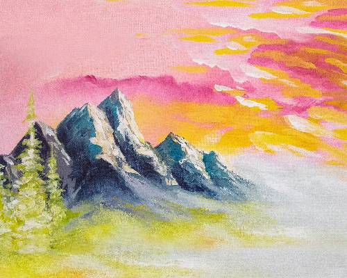 A Sherbert Mountain paint nite project by Yaymaker