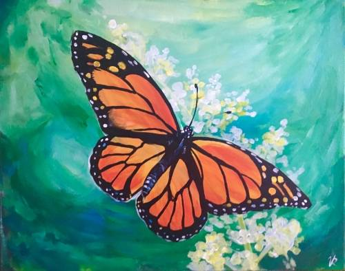 A Monarch Butterfly paint nite project by Yaymaker