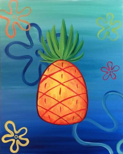 A Pineapple Under The Sea paint nite project by Yaymaker