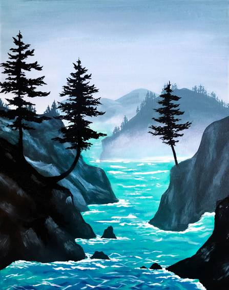 A Misty Cove paint nite project by Yaymaker