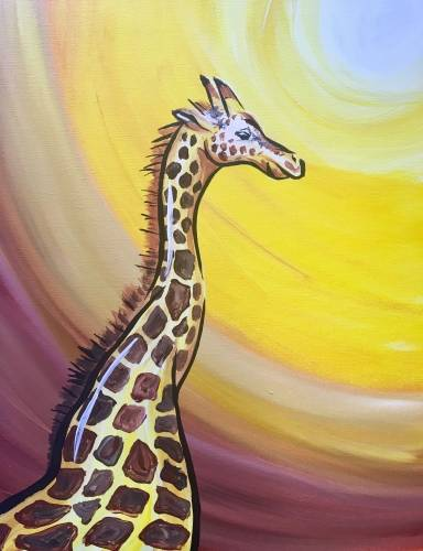 A Ginger the Giraffe paint nite project by Yaymaker