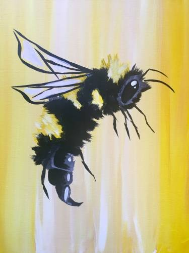 A Busy As A Bee paint nite project by Yaymaker