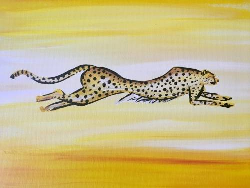 A Cheetah Cat paint nite project by Yaymaker