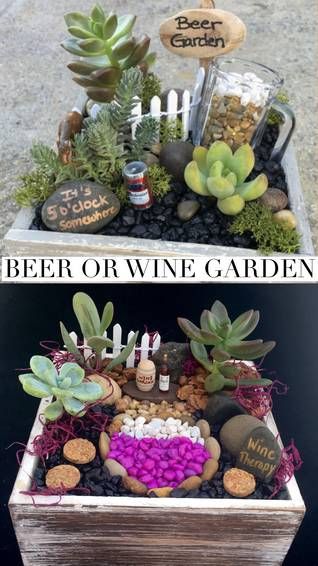 A Beer Garden or Wine Therapy plant nite project by Yaymaker