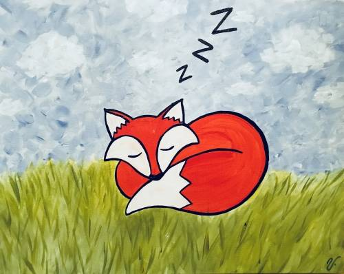 A Sleepy Fox paint nite project by Yaymaker