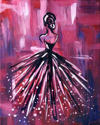 A Lady en Rose paint nite project by Yaymaker