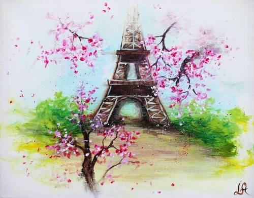 A Dreaming Of Paris II paint nite project by Yaymaker