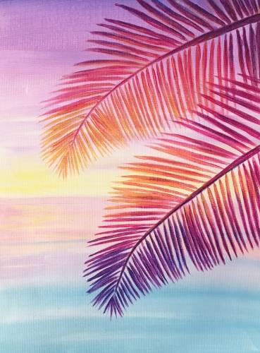 A Pink Palms II paint nite project by Yaymaker
