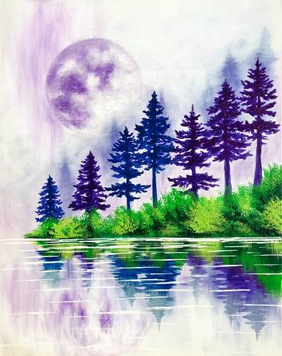 A Serene Reflections paint nite project by Yaymaker