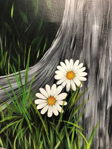 A Two Little Daisies paint nite project by Yaymaker