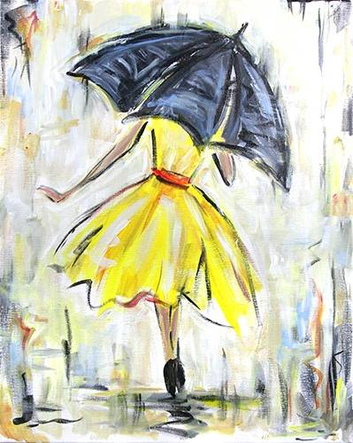 A The Yellow Dress paint nite project by Yaymaker