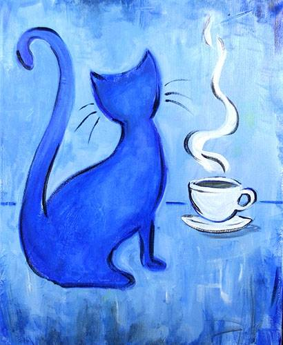 A Purrfect Cup paint nite project by Yaymaker