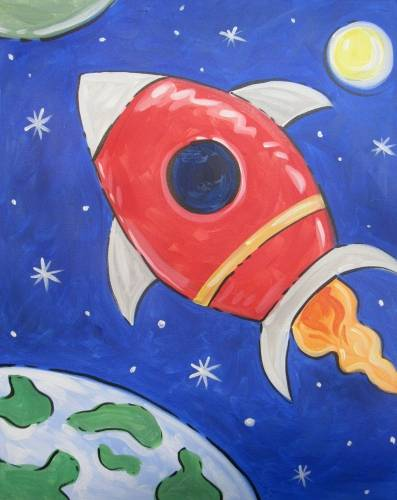 A Space Rocket paint nite project by Yaymaker