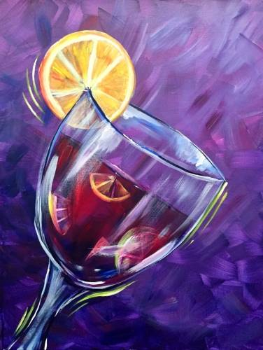A Sangria All Summer Please paint nite project by Yaymaker