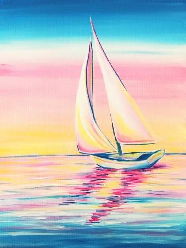 A Sailing in the Morning Light paint nite project by Yaymaker