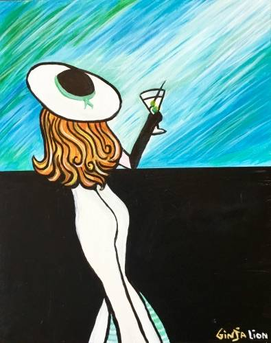 A Stirred Not Shaken paint nite project by Yaymaker